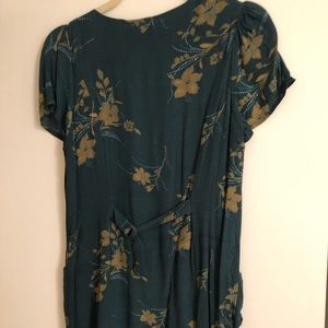 Urban Outfitters Dresses - Green floral mini dress